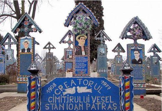 """罗马尼亚的""""快乐墓园"""""""