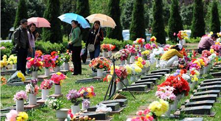 """墓地祭扫应提倡""""祭品从简""""原则"""